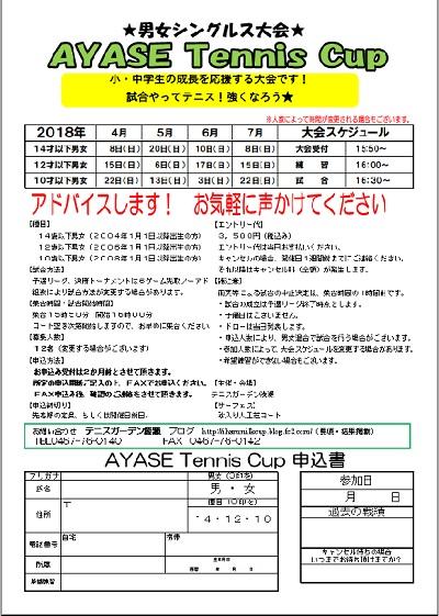 7月開催要項 AYASE TENNIS CUP4~7月開催要項・申し込み用紙