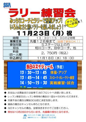 2020年11月イベント-353x500 ラリー練習会!